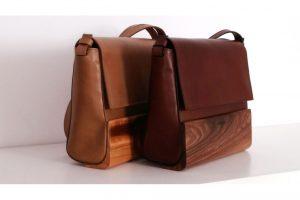 bolso de madera de nogal de diseño