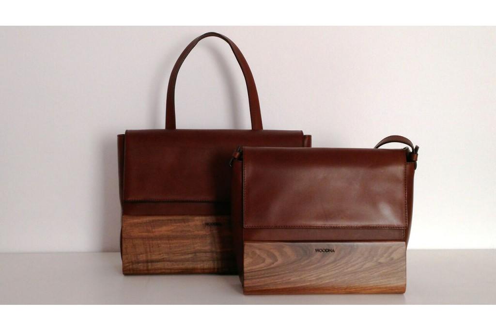 Bolsos piel madera