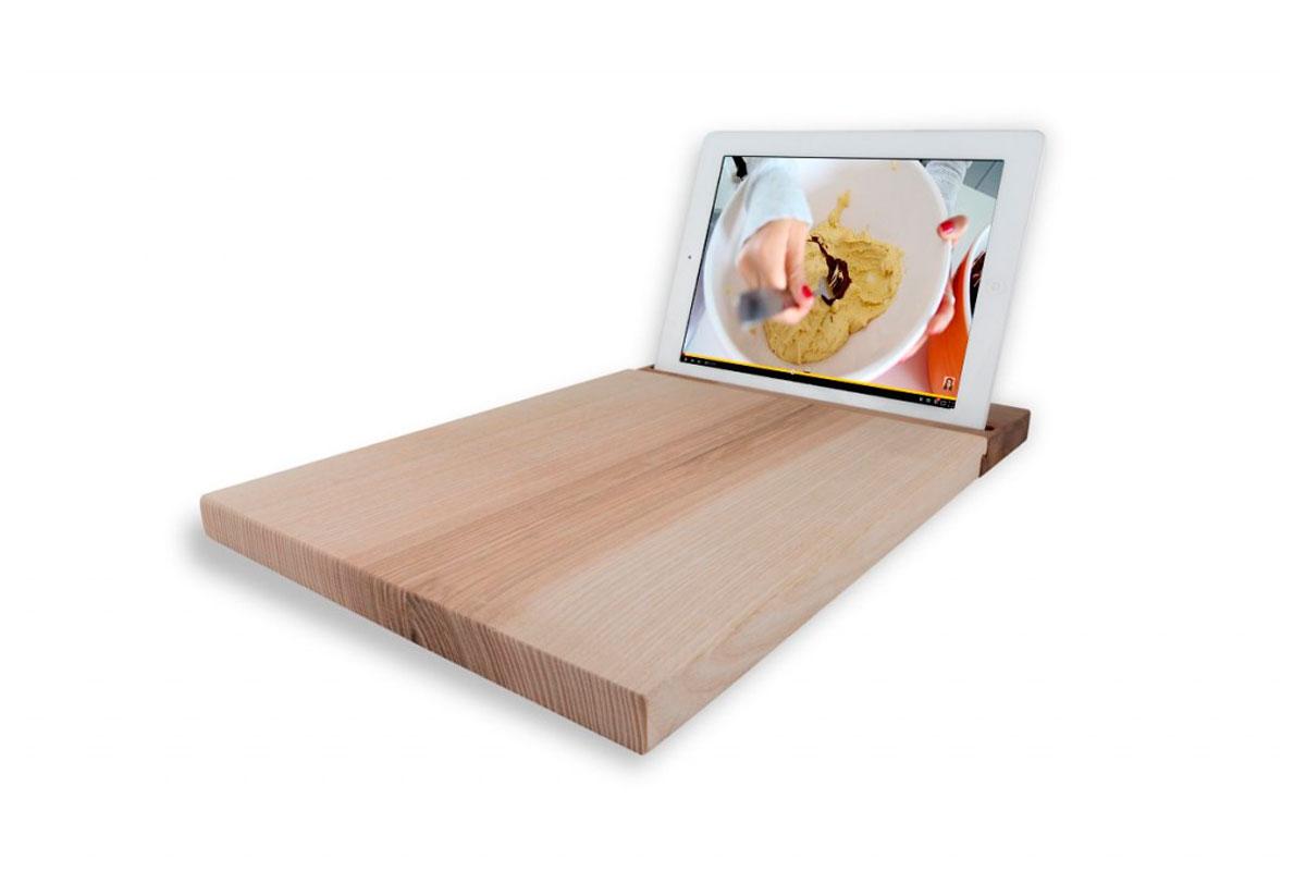 Soporte para tablet de madera de nogal online