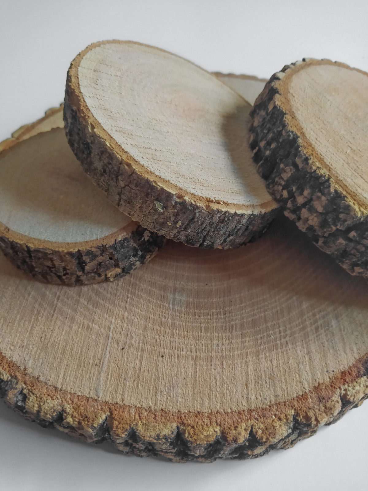 rodajas de madera bodas