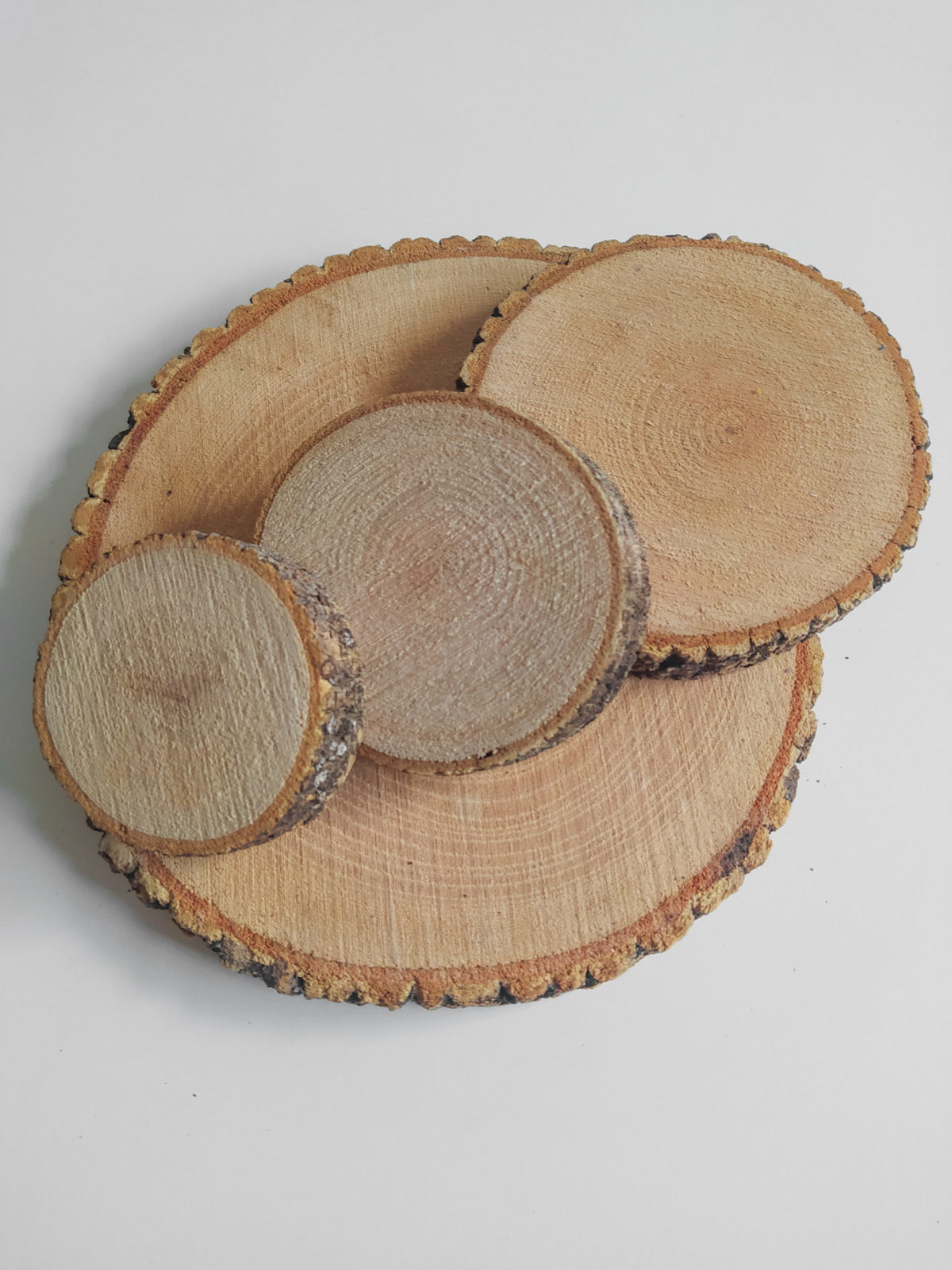 rodajas de madera decorativas