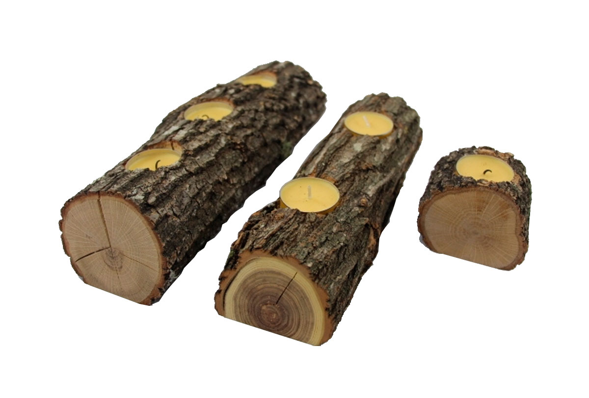 Portavelas Woodna: Maderas Naturales
