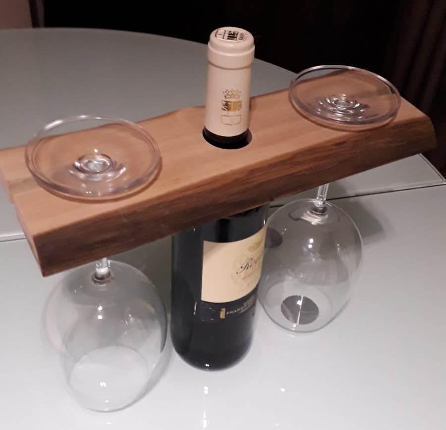 Soporte para copas y botella de vino | Woodna