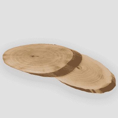 rodajas de madera ovaladas