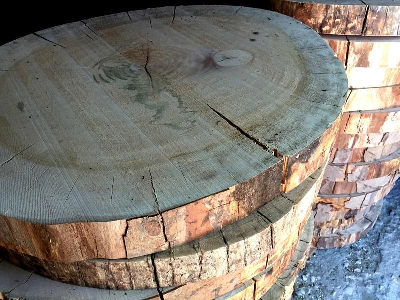 Rodajas gigantes Woodna: Maderas Naturales