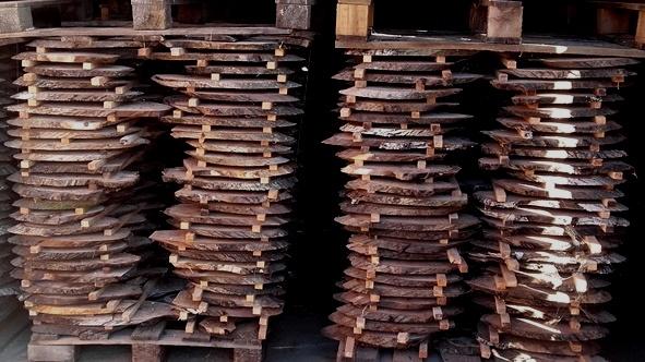 Rodajas oblicuas secas Woodna: Maderas Naturales
