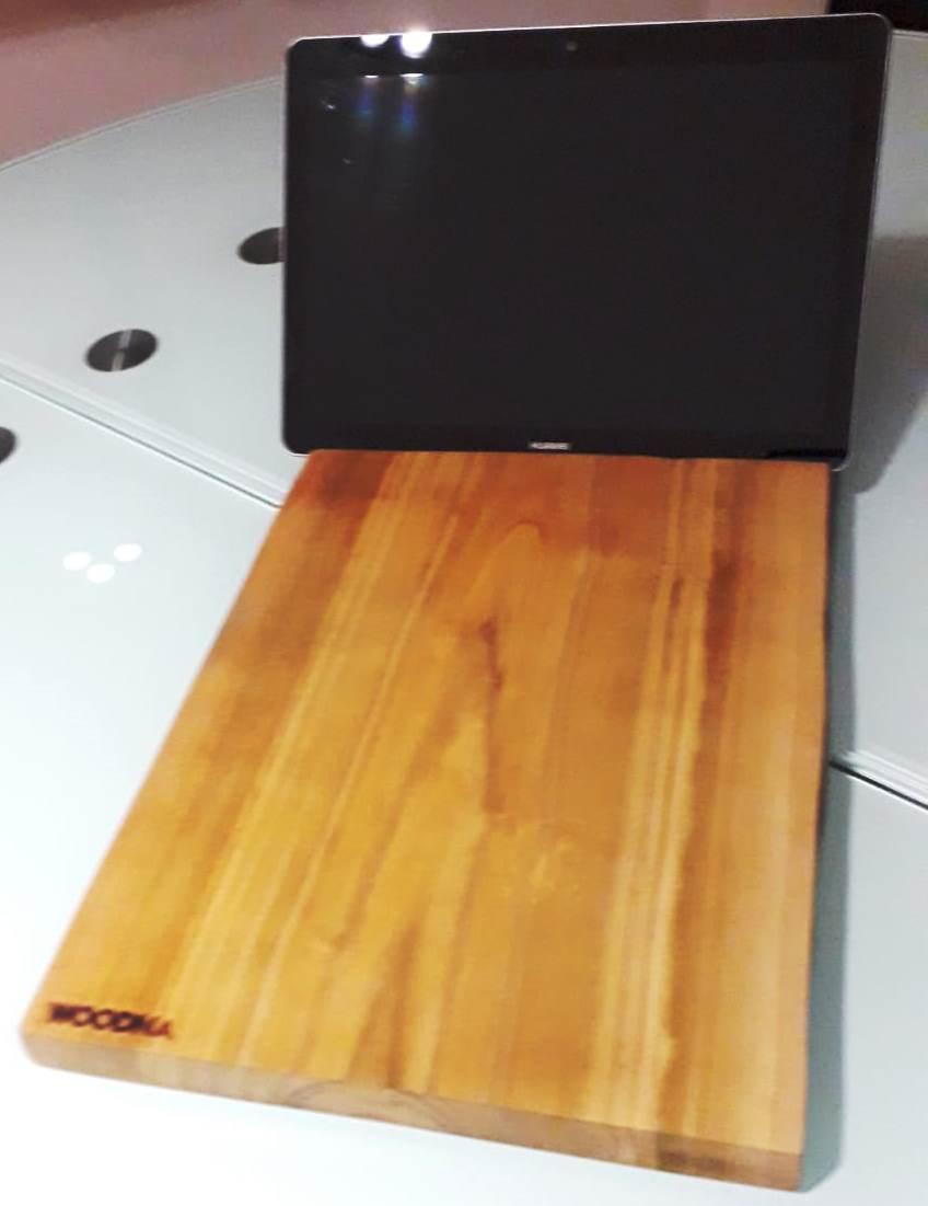 Tabla de cortar masterchef con ranura para móvil o tablet
