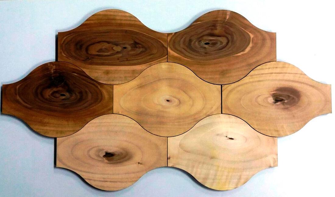 Loseta geométrica oblicua Woodna: Maderas Naturales