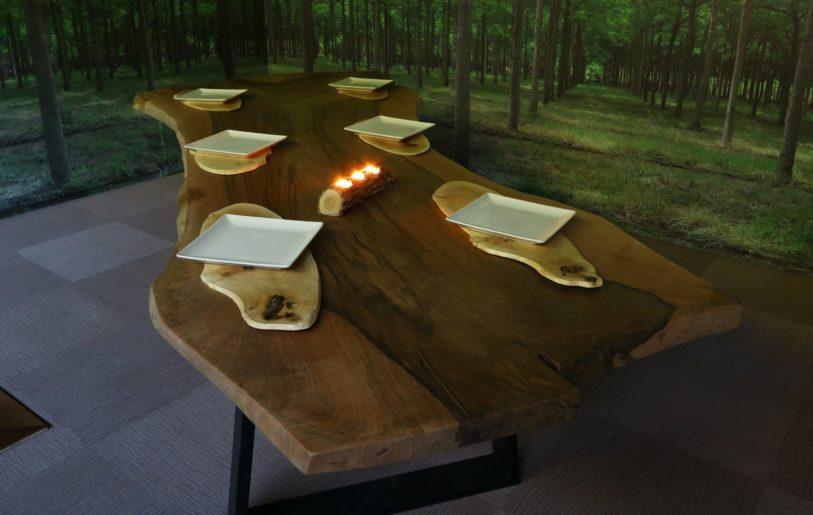 mesas con bordes naturales