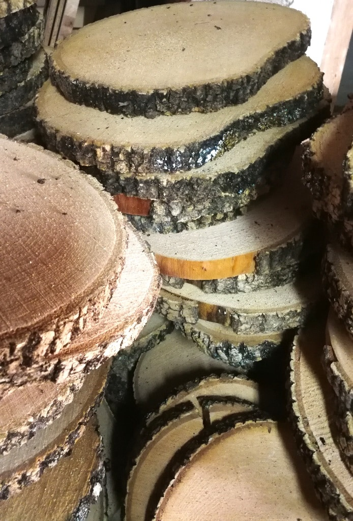 rodajas de madera baratas