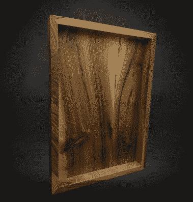 bandeja de madera natural