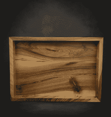 bandeja de madera de nogal