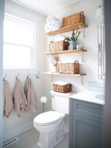 baldas de madera maciza para baño